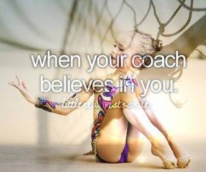 coach, gymnastics, and quote image