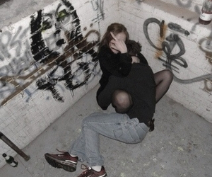 grunge, couple, and indie image