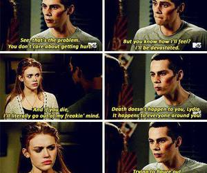 lydia, stiles, and dylan o'brien image