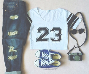 fashion, jeans, and number image