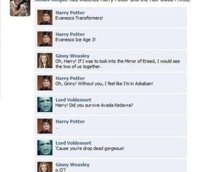 facebook, harry potter, and wtf image