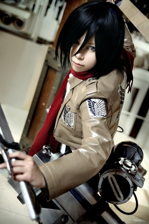 Mikasa Ackerman Cosplay Shared By Orihime On We Heart It