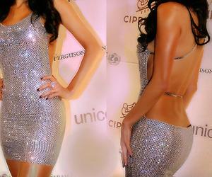 dress, sexy, and glitter image