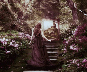 dress, fantasy, and forest image