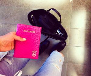 pink, fashion, and travel image