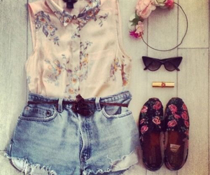 fashion, flowers, and ootd image