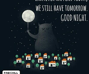 good night and quote image
