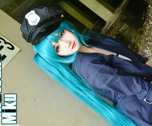 anime, blue, and cosplay image