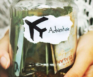 adventure, airplane, and dollars image