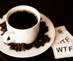 black, coffee, and wtf image