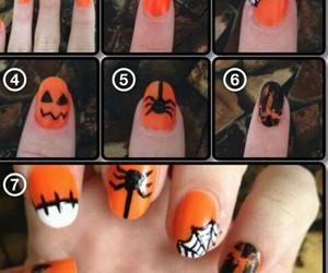 fall, fashion, and halloween nails image