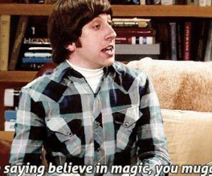 the big bang theory, muggle, and magic image