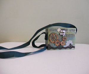 purse, steampunk, and handcraftedbyvee image
