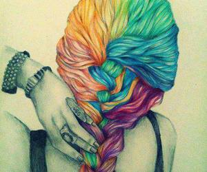 art, hair, and tumblr image