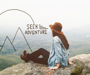 adventure, girl, and vintage image