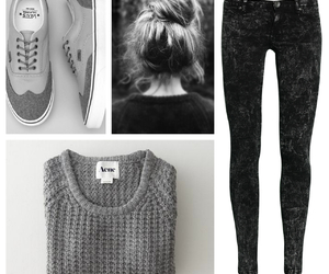 acne, clothe, and vans image