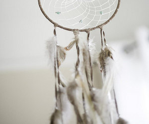 vintage, dreamcatcher, and feather image