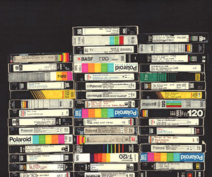 vhs, polaroid, and vintage image