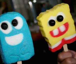 ice cream, spongebob, and blue image