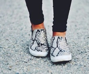 black, pattern, and shoes image