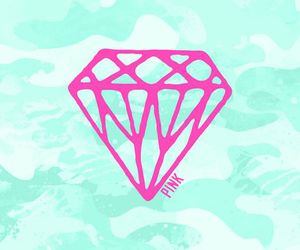pink, diamond, and wallpaper image