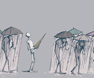 rain and umbrella image