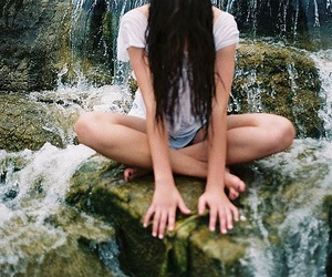 brunette, photo, and water image