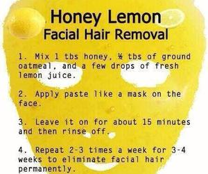 lemon, honey, and hair image