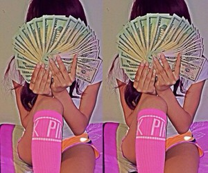 money and pink image