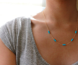 gold, turquoise, and jewelry image