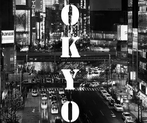 tokyo, japan, and black and white image