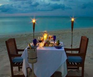beach, see, and romantic image