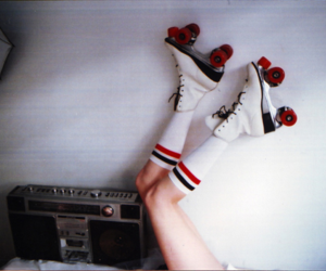 legs, retro, and skate image