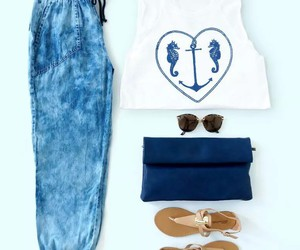 blue, fashion, and chic image