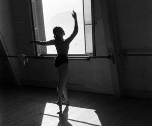 black and white, dance, and girl image