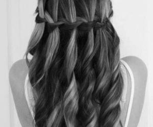 hair, long hair, and waves image
