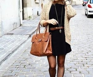 bag, dress, and booties image