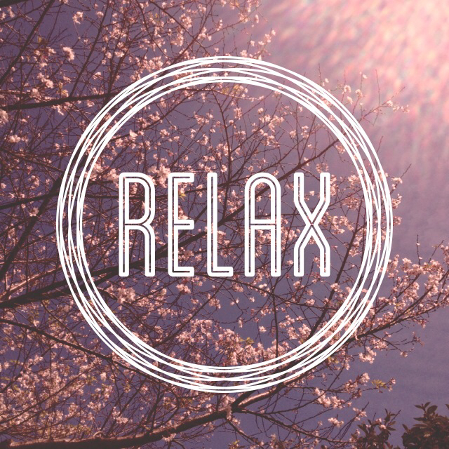 relax, flowers, and quote image