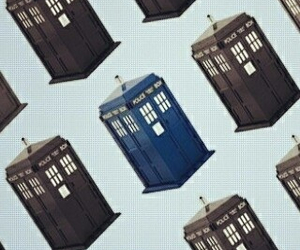 doctor who, tardis, and blue box image