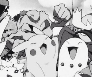black and white and pokemon image