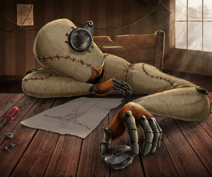 steampunk and robot image