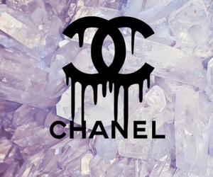 chanel, pink, and clouds image