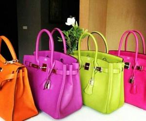 bag, neon, and purse image