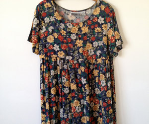 dress, floral, and grunge image