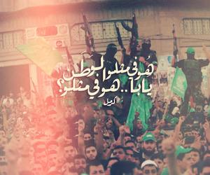 arabic, الوطن, and غزة image