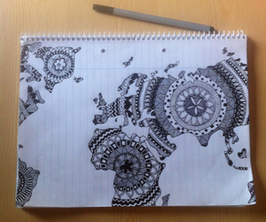 doodle, draw, and world image