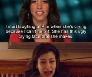 funny, kim kardashian, and crying image