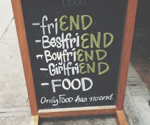 food, friends, and boyfriend image