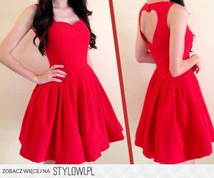 dress, red, and heart image