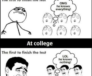 college, funny, and high school image